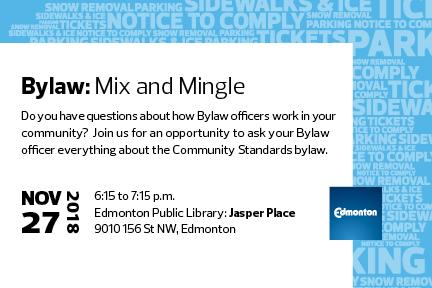 City of Edmonton Bylaw Mix & Mingle