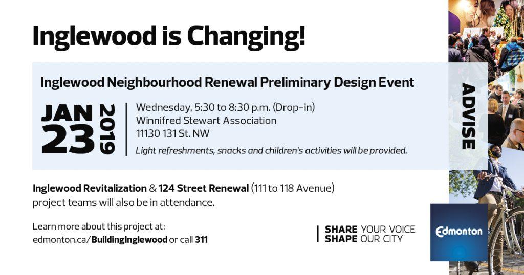 Inglewood Neighbourhood Renewal Preliminary Design Event