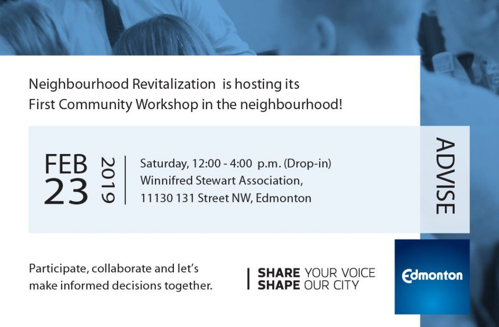 Neighbourhood Revitalization Community Workshop