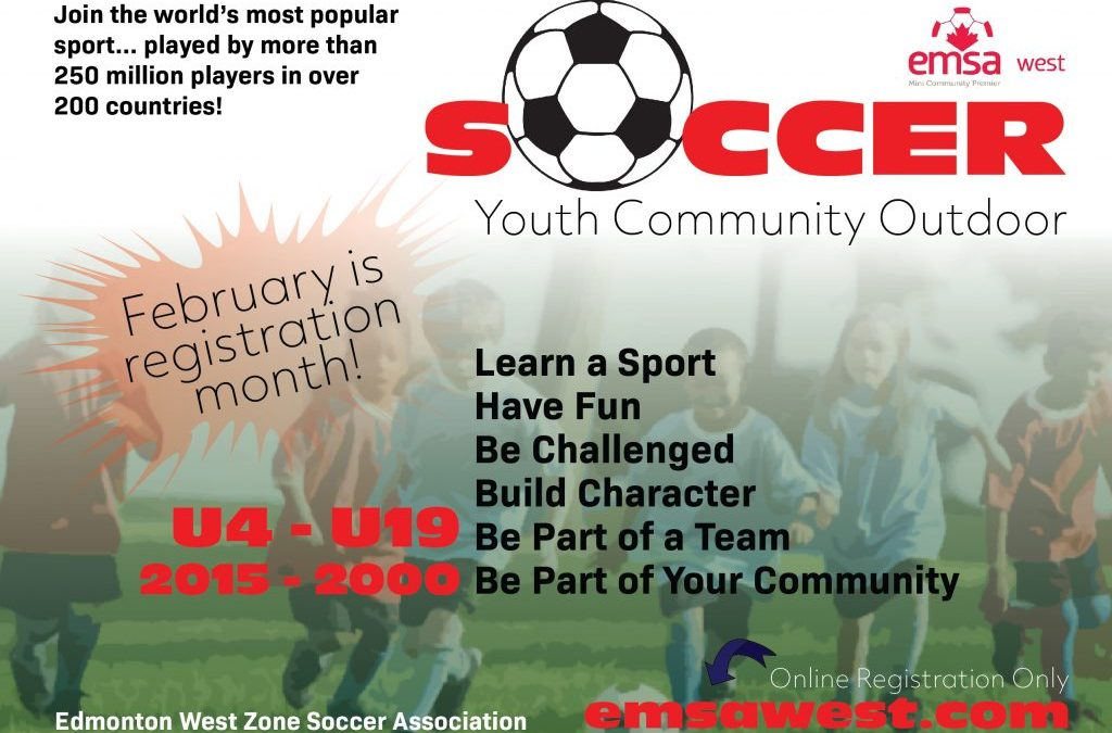 February is Outdoor Soccer Registration Month!