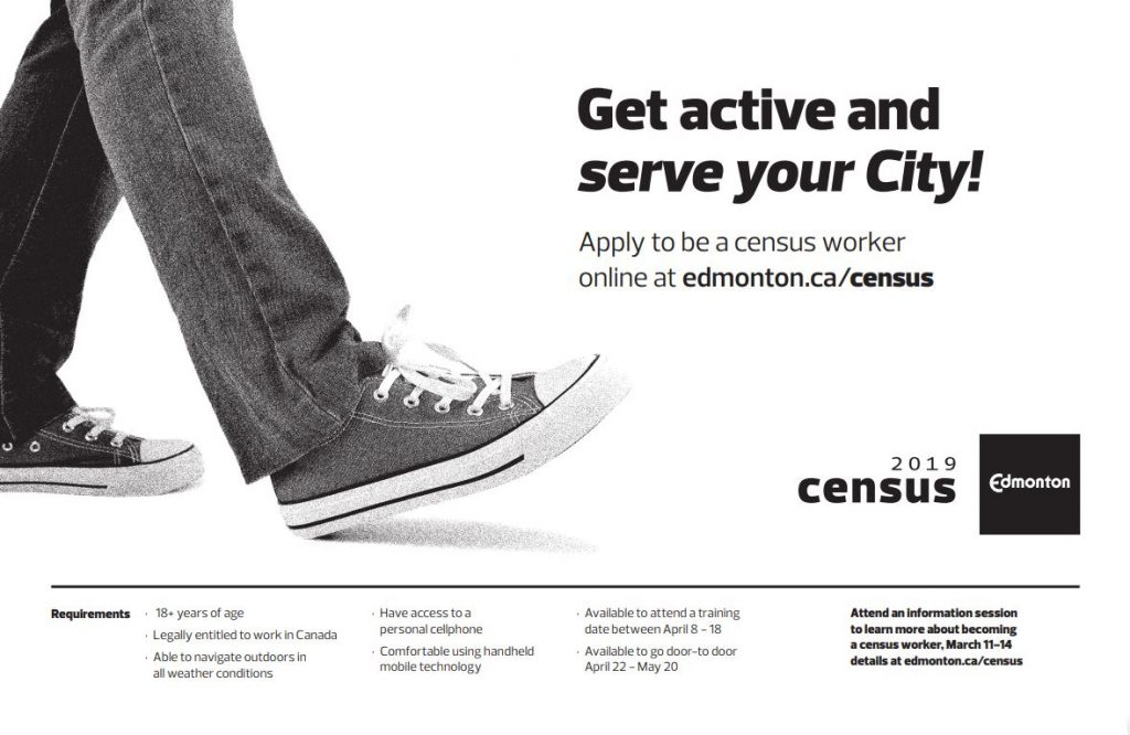 City Of Edmonton 2019 Census Recruitment Inglewood