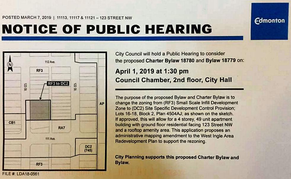 Mid-Block Apartment Rezoning Public Hearing
