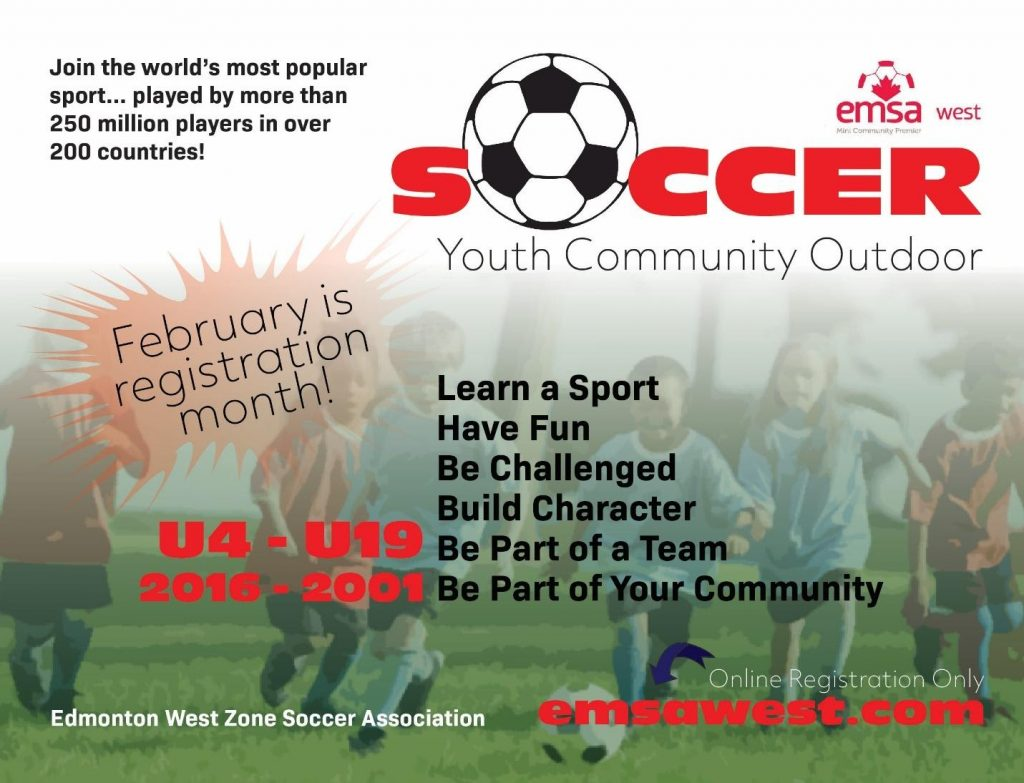February is Outdoor Soccer Registration Month