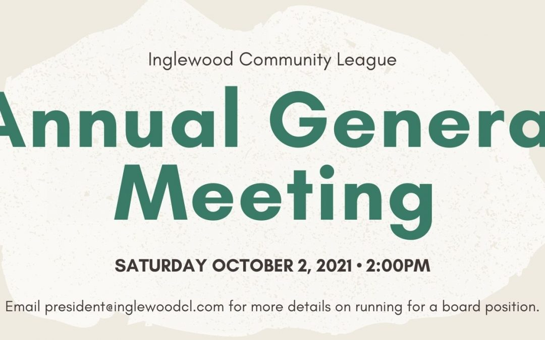 Join Us! Annual General Meeting October 2 @ 2:00pm
