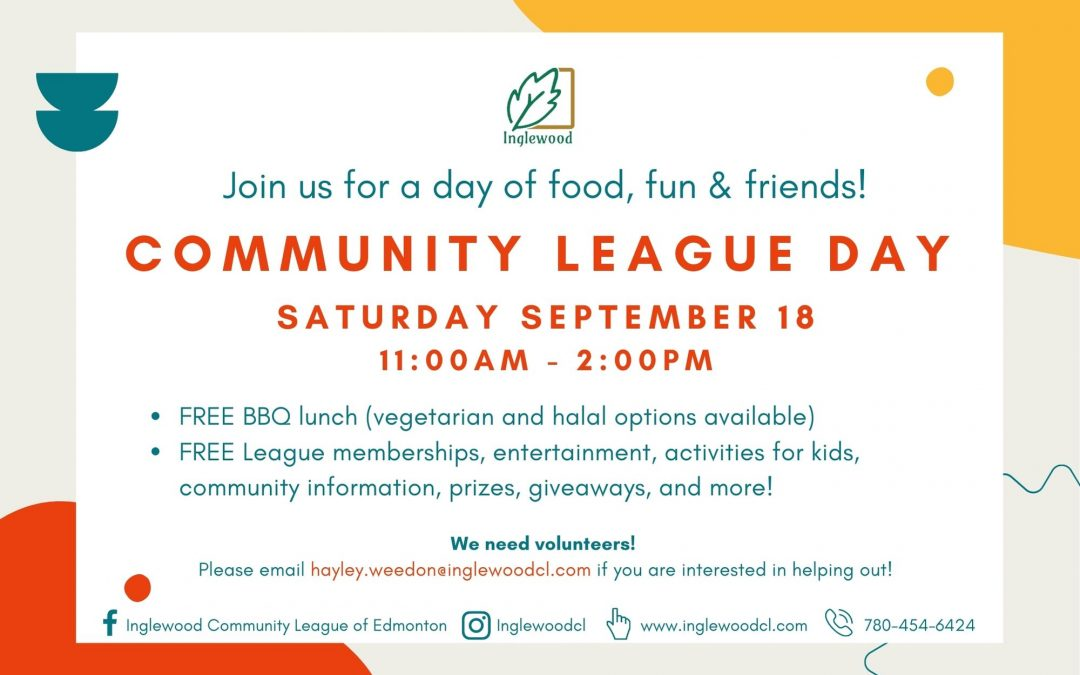 Community League Day 2021: CANCELLED