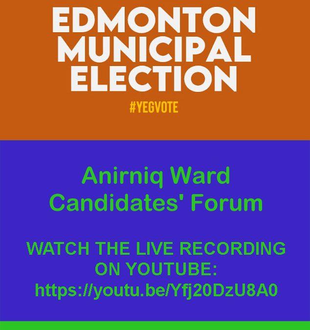 Anirniq Candidates' Forum RECAP + LIVE RECORDING LINK